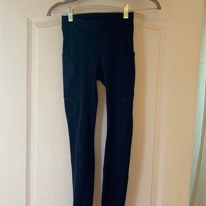 """Lululemon 25"""" leggings (navy blue)"""